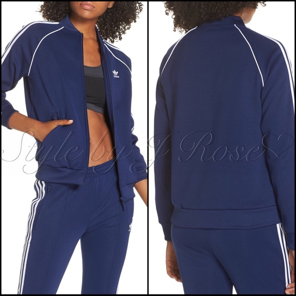 adidas Jackets & Blazers - NWT's Adidas SST Navy Track Jacket
